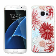 Premium Perforated Transparent Cushion Gelli Case for Samsung Galaxy S7 Edge - Spring Daisies