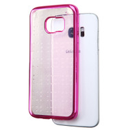 SPOTS Electroplated Premium Candy Skin Cover for Samsung Galaxy S7 Edge - Hot Pink
