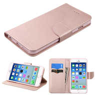 Diary Leather Wallet Case for iPhone 6 / 6S - Rose Gold