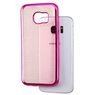 SPOTS Electroplated Premium Candy Skin Cover for Samsung Galaxy S7 Edge - Hot Pink Rose Gold