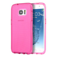 Comtempo Series Shockproof TPU Case for Samsung Galaxy S7 Edge - Hot Pink