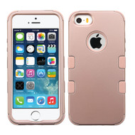 Military Grade Certified TUFF Hybrid Case for iPhone SE / 5S / 5 - Rose Gold 086