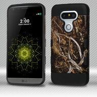Military Grade Certified TUFF Trooper Dual Layer Hybrid Armor Case for LG G5 - Tree