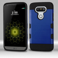 Military Grade Certified TUFF Trooper Dual Layer Hybrid Armor Case for LG G5 - Brushed Blue
