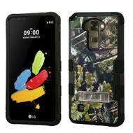 Military Grade Certified TUFF Image Hybrid Armor Case with Stand for LG G Stylo 2 / Stylus 2 - English Oak Camouflage
