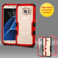 TUFF Vivid Hybrid Armor Case for Samsung Galaxy S7 Edge - Red