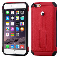 Multi-Function Tough Anti-Shock Hybrid Case for iPhone 6 Plus / 6S Plus - Red