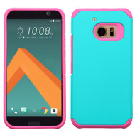 *Sale* Hybrid Multi-Layer Armor Case for HTC 10 - Teal Hot Pink