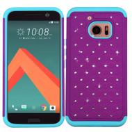 TotalDefense Diamond Hybrid Case for HTC 10 - Purple Teal