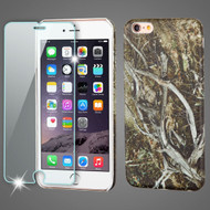 Mod Leather Graphic Case and Tempered Glass Screen Protector for iPhone 6 Plus / 6S Plus - Tree