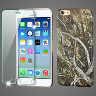 Mod Leather Graphic Case and Tempered Glass Screen Protector for iPhone 6 / 6S - Tree