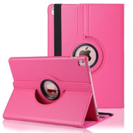 *FINAL SALE* 360 Degree Smart Rotary Leather Case for iPad Pro 9.7 inch - Hot Pink