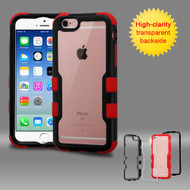 TUFF Vivid Hybrid Armor Case for iPhone 6 / 6S - Black Red