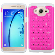 TotalDefense Diamond Hybrid Case for Samsung Galaxy On5 - Hot Pink White
