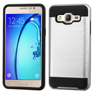 *Sale* Brushed Hybrid Armor Case for Samsung Galaxy On5 - Silver