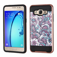 Brushed Graphic Hybrid Armor Case for Samsung Galaxy On5 - Persian Paisley
