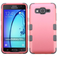 Military Grade Certified TUFF Hybrid Armor Case for Samsung Galaxy On5 - Pearl Pink Grey