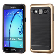 Bumper Frame Hybrid Case for Samsung Galaxy On5 - Gold