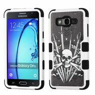Military Grade Certified TUFF Image Hybrid Armor Case for Samsung Galaxy On5 - Sword and Skull