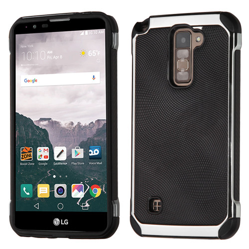 big sale 72d04 db78b Chrome Tough Anti-Shock Hybrid Case with Leather Backing for LG ...