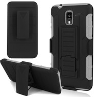 *SALE* Robust Armor Stand Protector Cover with Holster for Kyocera Hydro Reach / Hydro Shore / Hydro View - Black Grey
