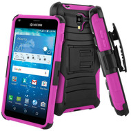 *SALE* Advanced Armor Hybrid Kickstand Case with Holster for Kyocera Hydro Reach / Hydro Shore / Hydro View - Pink