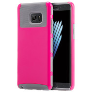 Glossimer UV Coating Dual-Layer Hybrid Armor Case for Samsung Galaxy Note 7 - Hot Pink Grey