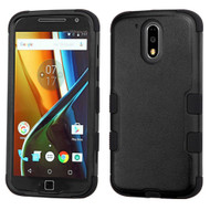 Military Grade TUFF Hybrid Armor Case for Motorola Moto G4 / G4 Plus - Black