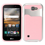 *Sale* Dual Layer Slim Hybrid Case for LG K3 - Silver Pink