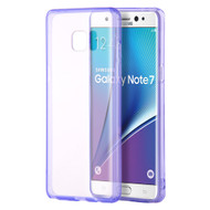 Glassy Transparent Gummy Cover for Samsung Galaxy Note 7 - Purple
