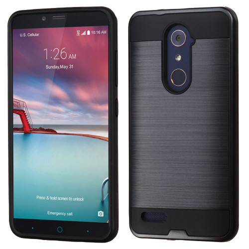 on sale 96c28 6098a Brushed Hybrid Armor Case for ZTE Zmax Pro / Grand X Max 2 ...