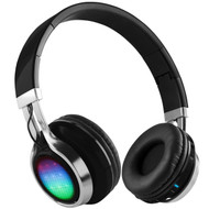 HyperGear V40 Rave Bluetooth Wireless Stereo LED Headphones with Microphone - Black