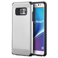 Silkee Anti Shock Hybrid Armor Case for Samsung Galaxy Note 7 - Silver