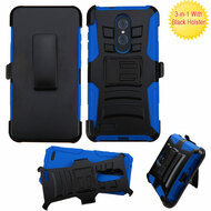 *SALE* Advanced Armor Hybrid Kickstand Case with Holster for ZTE Zmax Pro - Black Blue