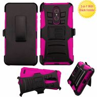 *SALE* Advanced Armor Hybrid Kickstand Case with Holster for ZTE Zmax Pro - Hot Pink