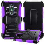 *SALE* Advanced Armor Hybrid Kickstand Case with Holster for ZTE Zmax Pro - Purple