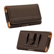 *SALE* Premium Horizontal Leather Pouch Case - Brown