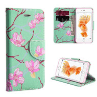 Executive Graphic Leather Wallet Case for iPhone 7 Plus - Japanese Blossom
