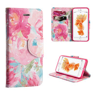 Executive Graphic Leather Wallet Case for iPhone 8 Plus / 7 Plus - Watercolor Floral