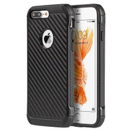 Tough Anti-Shock Hybrid Case for iPhone 8 Plus / 7 Plus - Carbon Fiber Black