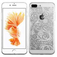 Floral Rubberized Crystal Case for iPhone 8 Plus / 7 Plus - White
