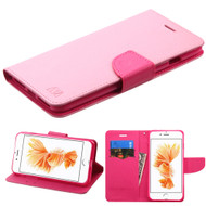 Diary Leather Wallet Case for iPhone 8 Plus / 7 Plus - Pink