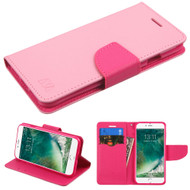 Diary Leather Wallet Case for iPhone 8 / 7 - Pink