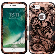 Military Grade Certified TUFF Image Hybrid Armor Case for iPhone 8 / 7 - Phoenix Flower Rose Gold