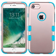 Military Grade Certified TUFF Hybrid Armor Case for iPhone 8 / 7 - Rose Gold Teal