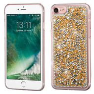 Desire Bling Bling Crystal Cover for iPhone 8 / 7 - Rhinestones Gold