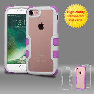 TUFF Vivid Hybrid Armor Case for iPhone 8 / 7 - White Purple