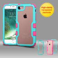 TUFF Vivid Hybrid Armor Case for iPhone 8 / 7 - Teal Hot Pink