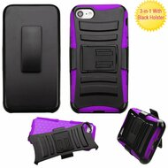 *SALE* Advanced Armor Hybrid Kickstand Case with Holster for iPhone 8 / 7 - Black Purple