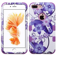 *SALE* Military Grade Certified TUFF Image Hybrid Armor Case for iPhone 8 Plus / 7 Plus - Purple Hibiscus Flower Romance